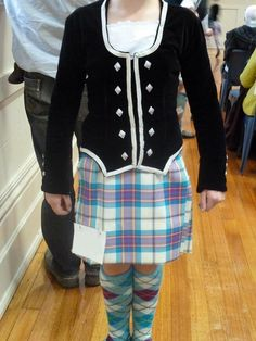 Kilt with black jacket Stewart Tartan, Kilts, Dancing, Blouse, Pink, Jackets, Black, Tops, Dresses