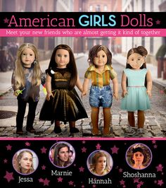 """The Cast Of HBO's """"Girls"""" As American Girl Dolls"""