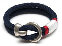 Nautical Rope Bracelet / Silver Hook Clasp by AllisonColeJewelry