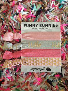 FUNNYBUNNIES -  #funnybunnies #bunny #hairband #hello #hairtie #bracelet #armcandy #armband #zopf #rosa #cute