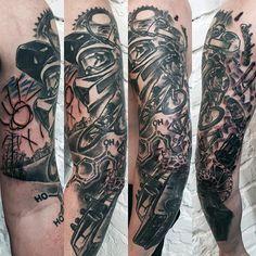 54 Best Motocross Dirtbike Tattoos Images Tattoo Sleeves Bicycle