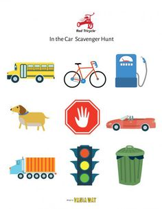 5 Free Printables for On-the-Go Adventures  Forget I Spy and make every on-the-go adventure exciting with our custom scavenger hunts. Download all five here >> http://redtri.com/red-tricycle-scavenger-hunt-printables/ #printables #diy #scavengerhunt