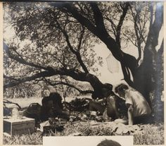 Camp scene from Camping trips on Culburra Beach by Max Dupain and Olive Cotton Australia 1947
