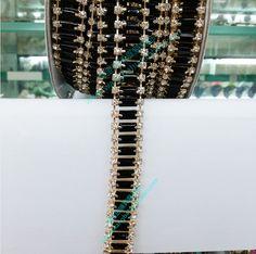Золотая цепь черный бриллиант в форме акриловой ручной работы с бриллиантом поделки утяжеленных бурильных труб свитер платье полосы сандалии алмазной пасты - глобальная станция Taobao