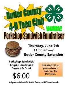 4-H Pork Chop Fundraiser