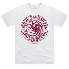 A three headed dragon breathing flames is the sigil of House Targaryen, also known as the dragonlords. The Targaryen family members include Daenerys and Viserys. This is an official Game of Thrones product.