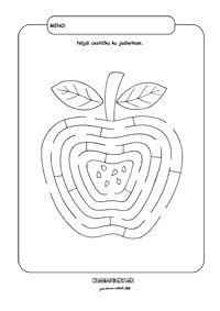 Apple - keress nyomvonal - munkalap gyerekeknek