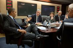 President Barack Obama meets with members of his national security team to discuss developments in the Boston bombings investigation, in the Situation Room of the White House, April 19, 2013.   (Official White House Photo by Pete Souza)