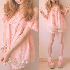 Baby Pink Babydoll Dress.
