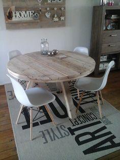 Ronde tafel oud steigerhout Harrie de Weert Multidiensten #harriemade