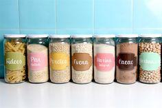 10 ideas para organizar tu cocina  Más etiquetas para organizar tus frascos. En este caso ya vienen preestablecidas, de distintos colores con diseños bien femeninos. <a href='https://www.facebook.com/jaus.bdays'>https://www.facebook.com/jaus.bdays</a>.  /Jaus