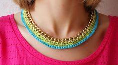 DIY : collier et bracelet en métal et crochet