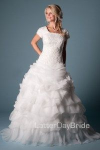 Latter day bride Wedding Dresses Lds, Modest Wedding Dresses With Sleeves, Affordable Wedding Dresses, Modest Dresses, One Shoulder Wedding Dress, Lace Wedding, Dream Wedding, Wedding Things, Movie Wedding