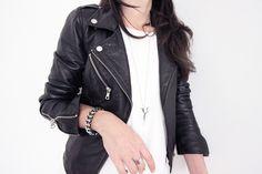 Perfecto en cuir noir, Zara - 149€ (http://www.zara.com/fr/fr/femme/vestes/trf/blouson-motard-en-cuir-c431506p1907555.html)