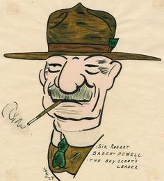 PRINT Sir Robert Baden - Powell. THE BOY SCOUTS LEADER, SCOUT, GIRL GUIDS.   eBay