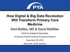How Digital & Big Data Revolution Will Transform Primary Care Medicine by PYA via slideshare