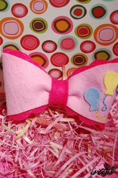 Pinkie Pie Hair Bow Made to Order by FeltNBow on Etsy, $5.00