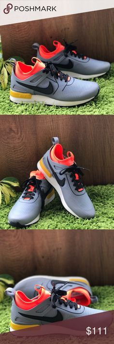 NWT Air Pegasus 89 Tech SI grey/orange WMNS Brand new, no box. Price is firm! No trades. Ripstop nylon upper with no-sew overlays for a smooth, supportive feel Durable Kurim © material highlights design lines for a dimensional look  Neoprene inner sleeve wraps the foot for a sock-like fit Phylon midsole with heel Air-Sole unit for lightweight cushioning Rubber Waffle outsole provides durable traction Reflective elements remain visible in low light Nike Shoes Sneakers