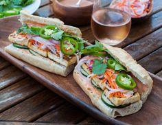 vegetarian banh mi sandwich with sriracha mayonnaise @Marin mama cooks