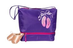 Giggles Ballet Gear Tote Bag in Purple by Horizon Dance Pink Ballet Shoes, Dance Accessories, Purple Ribbon, Bright Pink, Drawstring Backpack, Gears, Dance Bags, Backpacks, Tote Bag