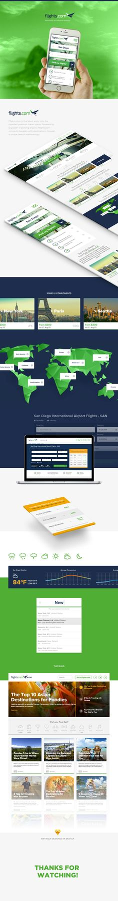 Flights.com on Behance