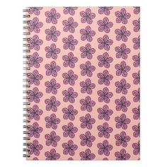 #floral - #Tropical Pink Hibiscus Spiral Notebook