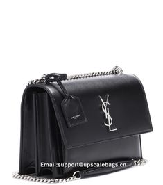 b512612ce7 Saint Laurent Medium Sunset Monogram shoulder bag Black