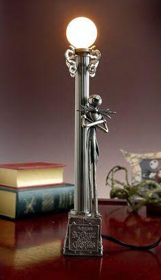 Nightmare Before Christmas - Jack Skellington - Pewter Lamp Statue