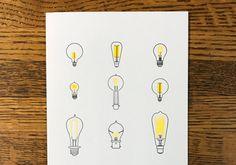 Affiche typo d'ampoules