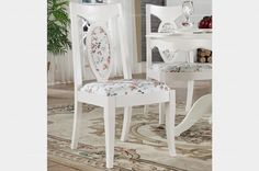 European style floral dining chair - MelodyHome.com