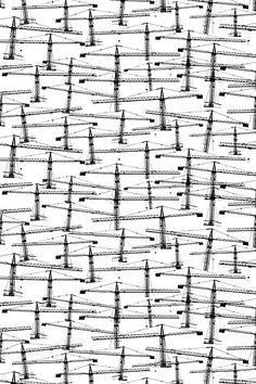 Laura Jarvelainen, Fuusio Fabric (in black) for Fokus Fabrik. Textile Patterns, Textile Design, Print Patterns, Textiles, Pattern Design, Print Design, Abstract Geometric Art, Contemporary Interior Design, Nordic Design