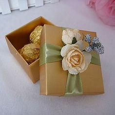 Gold Square Favor Box (Set of 12) – USD $ 9.99