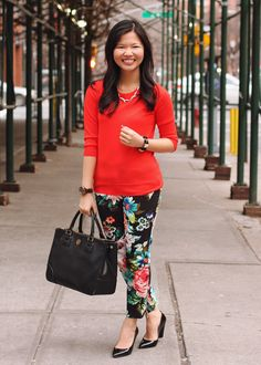 red and floral