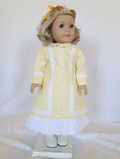 Nellie Oleson's Dress in butter yellow linen by dancingwithneedles via Etsy, $83.00