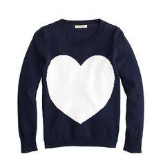 Heart Sweater by J.Crew