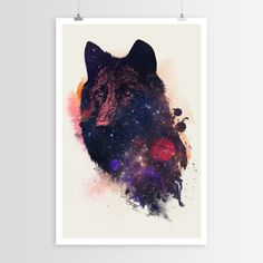 A fox in the cosmos. As a poster print. Winning! Our line of curated art posters are printed on fine art paper and are of the highest quality. Unlike our decals, these are not adhesive backed but are