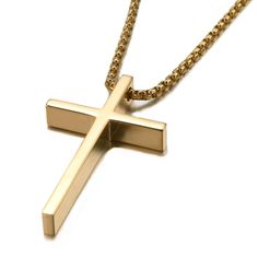 """Unistyle Womens Stainless Steel Cross Pendant Necklace, 20"""" Gold and Silver http://www.amazon.com/dp/B01074MQLO"""