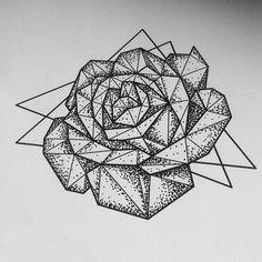 Working on Ece's geometric rose.