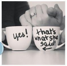 Love this!  Engagement announcement ♡  http://instagram.com/p/gO3HFaHiOb/