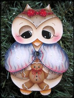 Owl and Little Ginger Painting E-Pattern by GingerbreadCuties