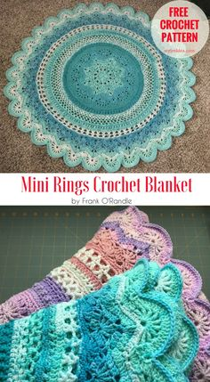 Mini Rings Crochet Blanket [Free Pattern] The Mini Rings blanket is very awesome but might usually use the Loops Snuggly in Wavelength blue to crochet the Virus blanket instead of that. Try the Lion Brand yarn with color Ice Cream. So this project shows the way how to do that.   #crochet #ringsblanket #freepattern