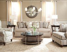 Huntington House contemporary living room