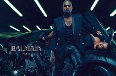 Kanye West and Kim Kardashian photo shoot for Balmain December 2014