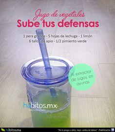 Hábitos Health Coaching   JUGO DE VEGETALES SUBE TUS DEFENSAS