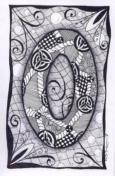 Zentangle, Letter O