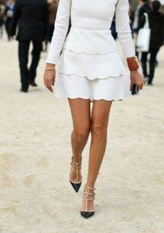 White n Valentino Rock Stud Shoes.