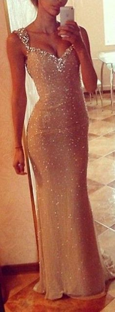Sweetheart ,Neck Sequins, Lace Mermaid Prom Dress,Formal Dress