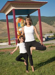 Mom and daughter yoga routine