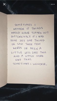 sometimes I wonder a lot.