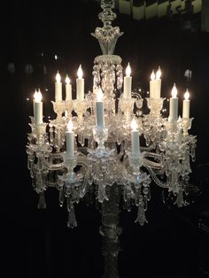 Looking up at a chandelier in Baccarat Museum, Paris... would look ...